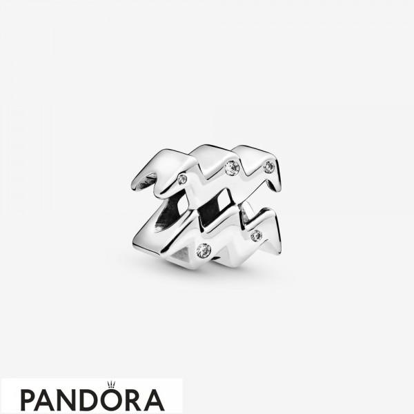 Women's Pandora Sparkling Aquarius Zodiac Charm Jewelry