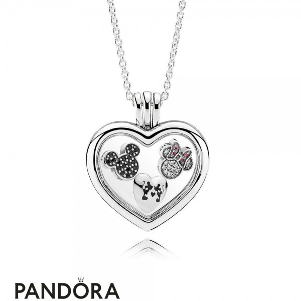 Pandora Sparkling Mickey And Minnie Floating Locket Gift Set Jewelry