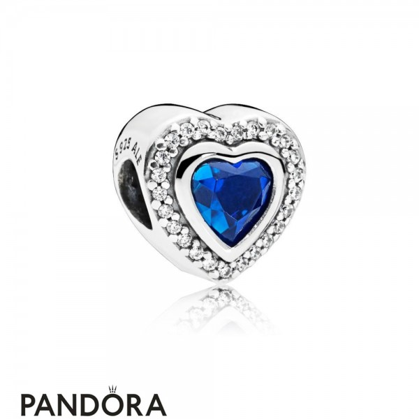 Women's Pandora Sparkling Night Blue Love Heart Charm Jewelry