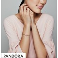 Women's Pandora Sparkling Peach Blossom Flower Charm Jewelry
