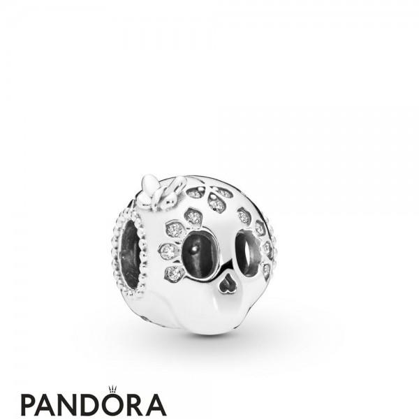 Women's Pandora Sparkling Skull Charm Jewelry