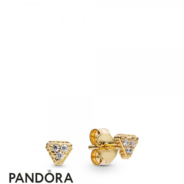 Women's Pandora Sparkling Triangles Stud Earrings Pandora Shine Jewelry