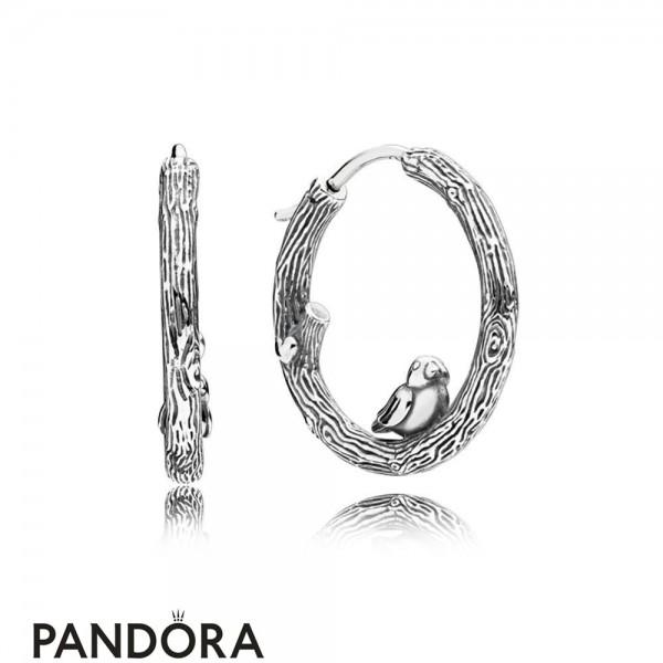 Women's Pandora Jewelry Spring Bird Earring Hoops Jewelry