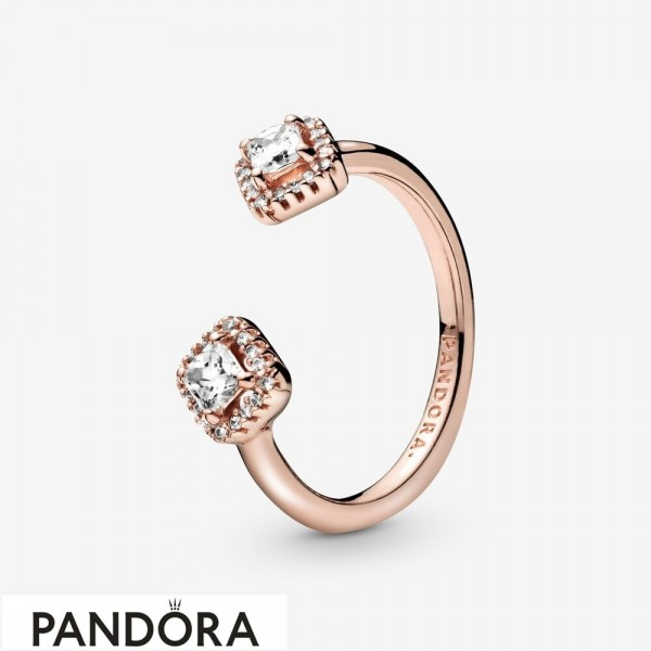 Women's Pandora Square Sparkle Open Cz Ring Jewelry