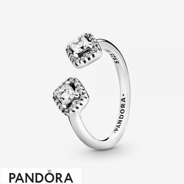 Women's Pandora Square Sparkle Open Ring Jewelry