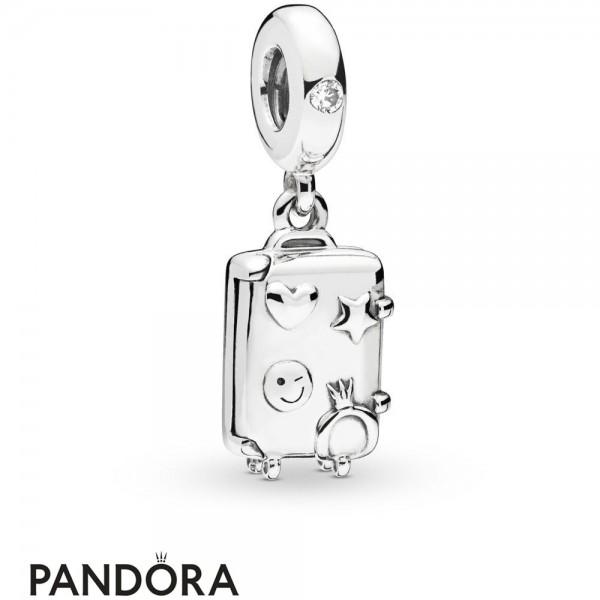 Women's Pandora Suitcase Hanging Charm Jewelry