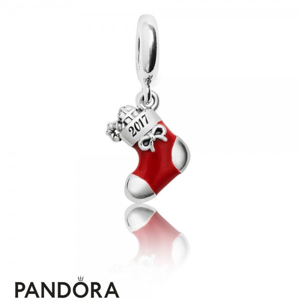 Pandora Winter Collection 2017 Engraved Christmas Stocking Limited Edition Charm Jewelry