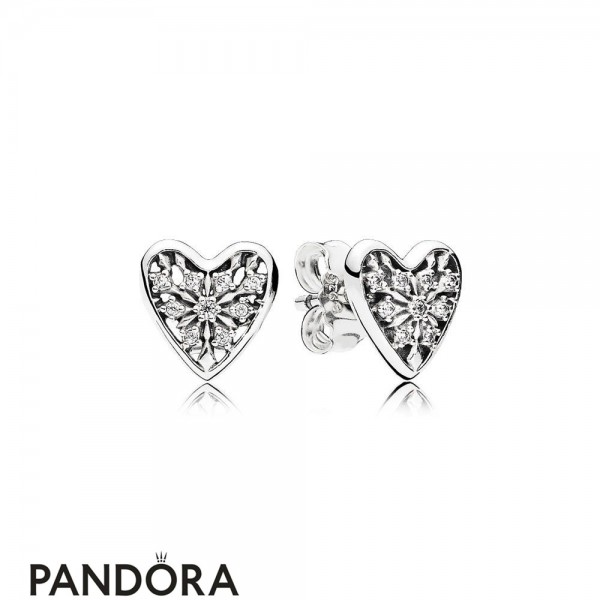 Pandora Winter Collection Hearts Of Winter Stud Earrings Jewelry