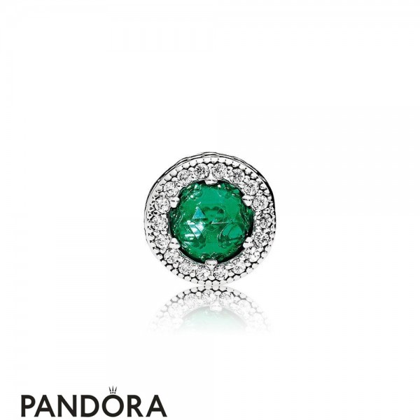 Pandora Winter Collection Optimism Charm Royal Green Crystals Jewelry