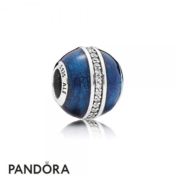 Pandora Winter Collection Orbit Charm Midnight Blue Enamel Jewelry