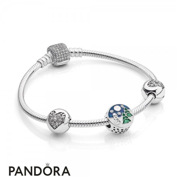 Pandora Winter Collection Snowy Wonderland Bracelet Gift Set Jewelry