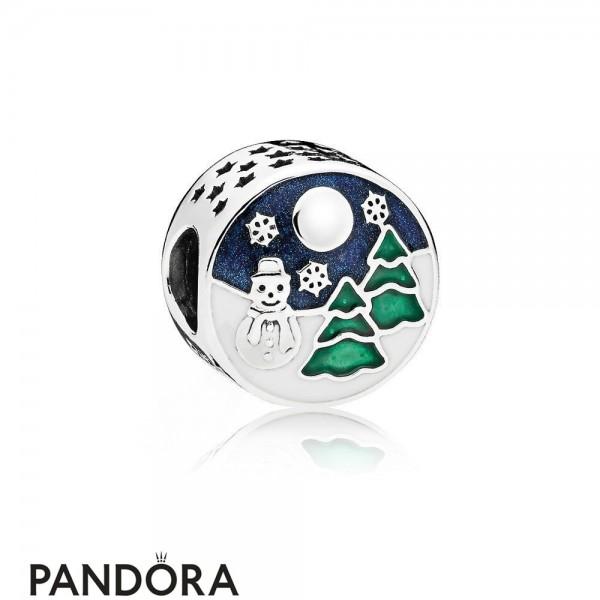 Pandora Winter Collection Snowy Wonderland Charm Blue Green Enamel Jewelry