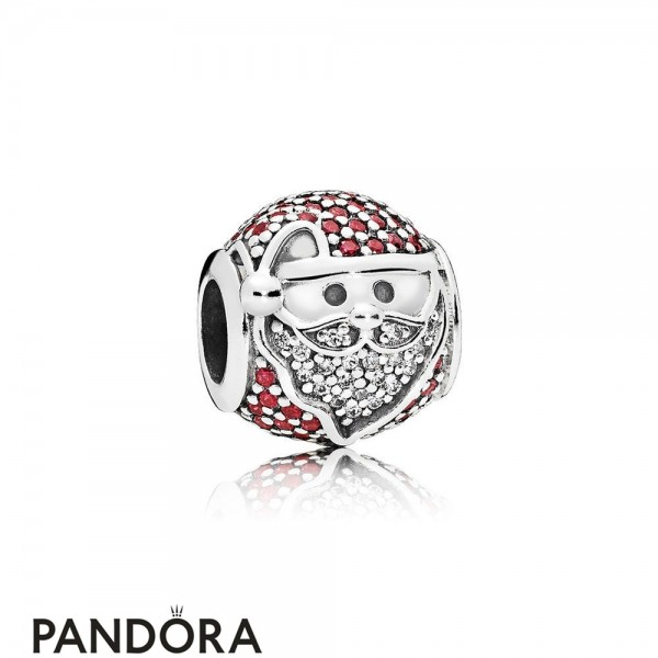 Pandora Winter Collection Sparkling Jolly Santa Charm Red Jewelry