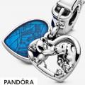 Women's Pandora Charm Pendant Disney Heart Belle And The Tramp Jewelry