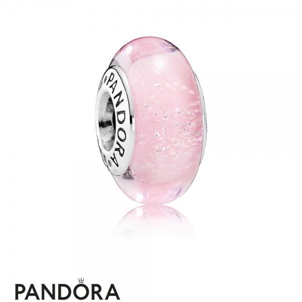 Pandora Disney Charms Aurora's Signature Color Charm Murano Glass Jewelry