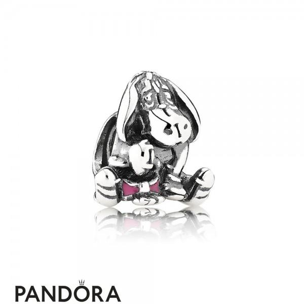Pandora Disney Charms Eeyore Charm Pink Enamel Jewelry