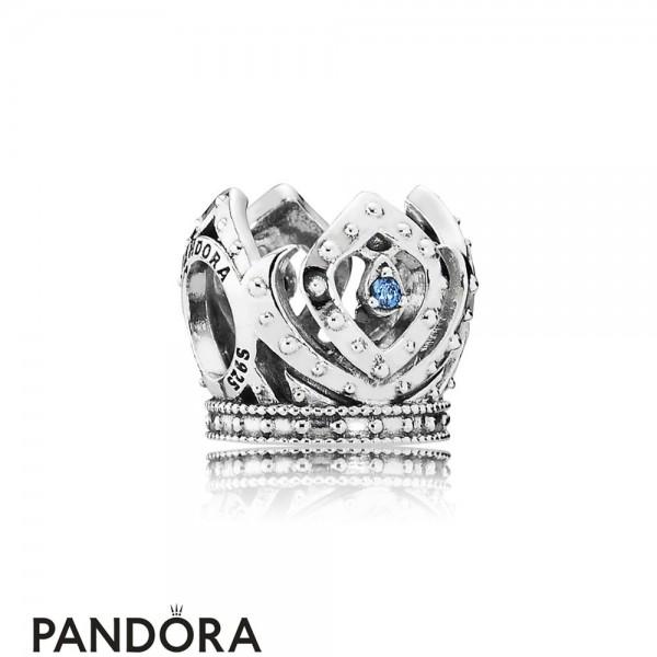 Pandora Disney Charms Elsa's Crown Charm Blue Cz Jewelry