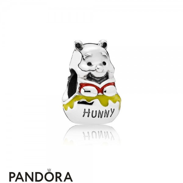 Pandora Disney Charms Honey Pot Pooh Charm Mixed Enamel Jewelry