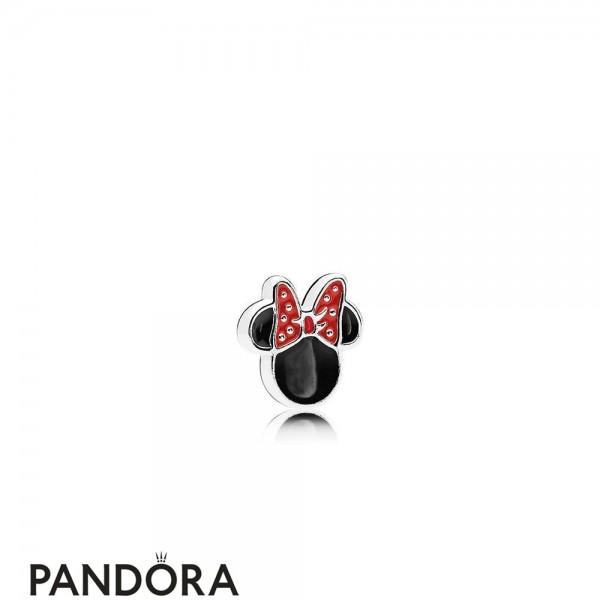 Pandora Disney Charms Minnie Icon Petite Charm Red Black Enamel Jewelry