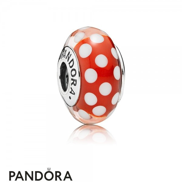 Pandora Disney Charms Minnie's Signature Look Charm Murano Glass Jewelry