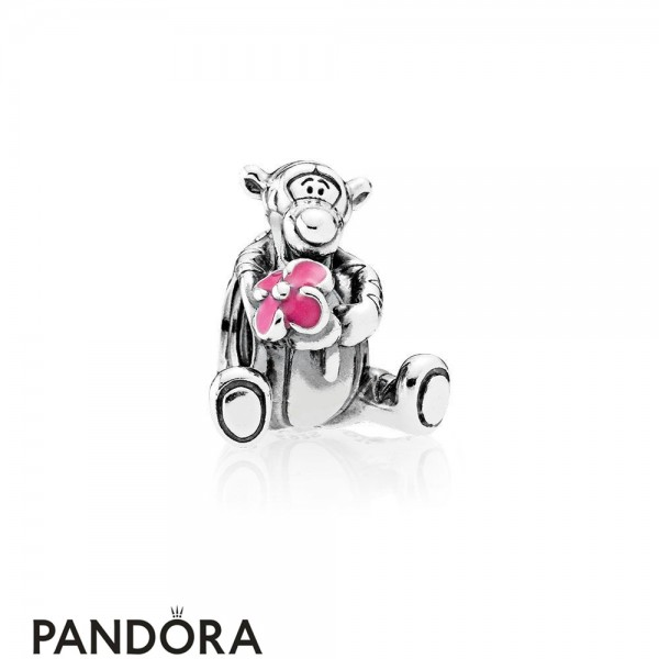 Pandora Disney Charms Tigger Charm Pink Enamel Jewelry
