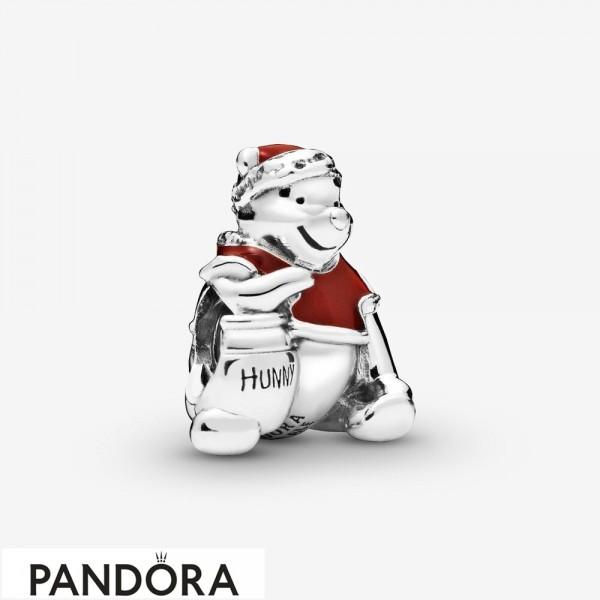 Women's Pandora Disney Winnie The Pooh Hunny Pot Christmas Charm Jewelry