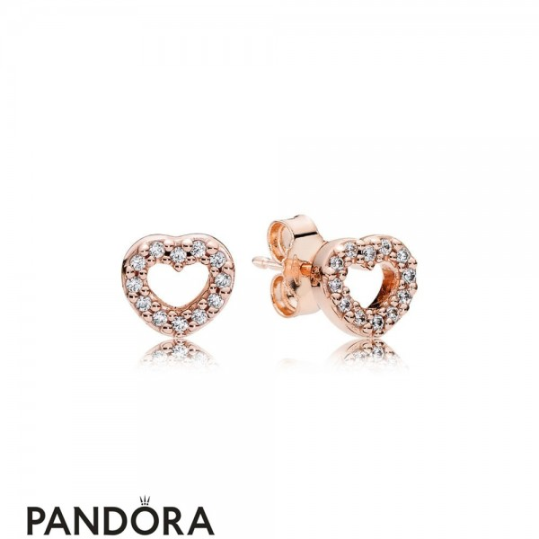 Pandora Earrings Captured Hearts Stud Earrings Pandora Rose Jewelry