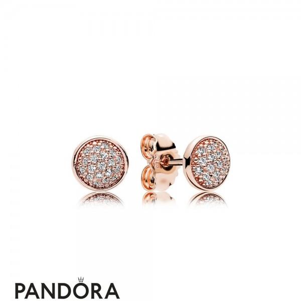 Pandora Earrings Dazzling Droplets Stud Earrings Pandora Rose Jewelry
