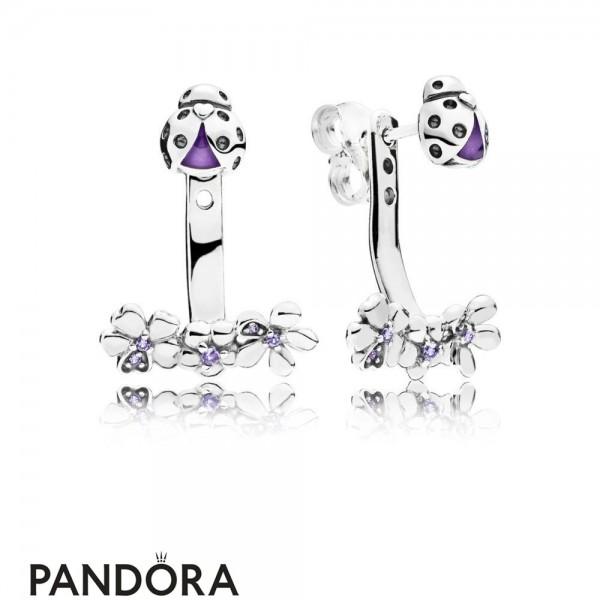 Women's Pandora Ladybird Meadow Earring Studs Jewelry Jewelry