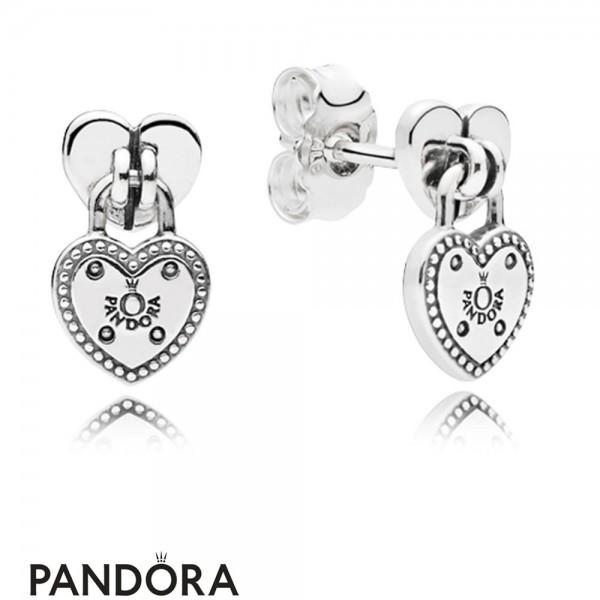 Women's Pandora Love Locks Stud Earring Jewelry