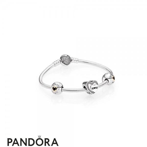 Pandora Holiday Gift Tribute To Mom Bracelet Set Jewelry