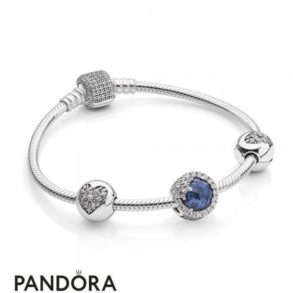 Pandora Holiday Gift Winter Collection Dazzling Snowflake Bracelet Gift Set Jewelry