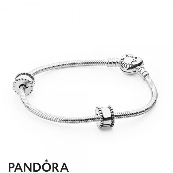Women's Pandora Iconic Pandora Holiday Gift Heart Clasp Bracelet Jewelry
