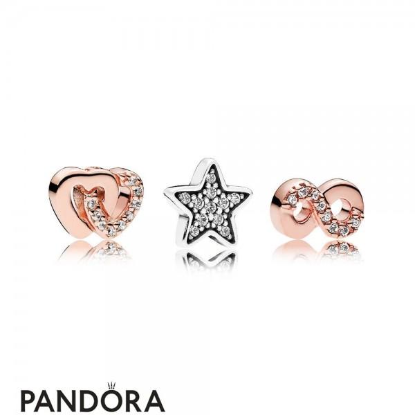 Pandora Rose Hearts And Stars Petite Charm Pack Jewelry