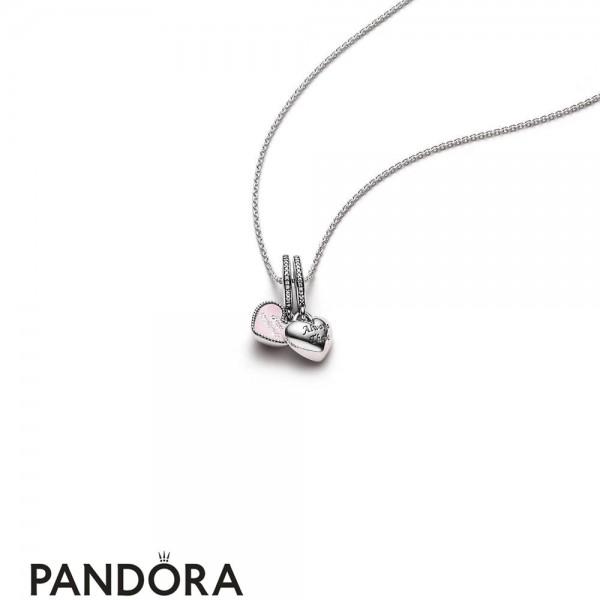 Women's Pandora Best Friends Pendant And Necklace Jewelry