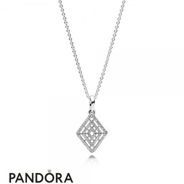 Women's Pandora Geometric Lines Necklace Jewelry