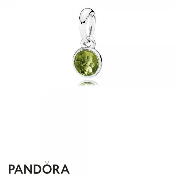 Pandora Pendants August Droplet Pendant Peridot Jewelry