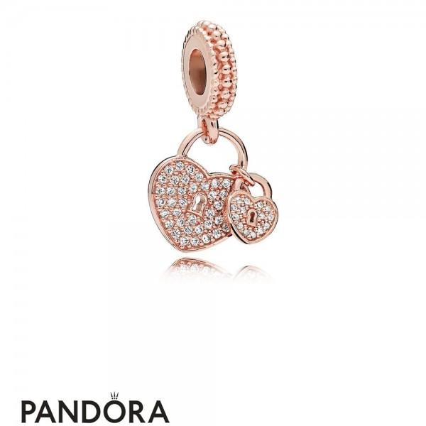 Pandora Pendants Pandora Love Locks Pendant Charm Rose Pendant Jewelry