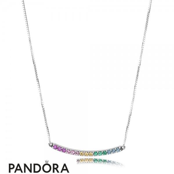 Women's Pandora Rainbow Arcs Of Love Necklace Jewelry