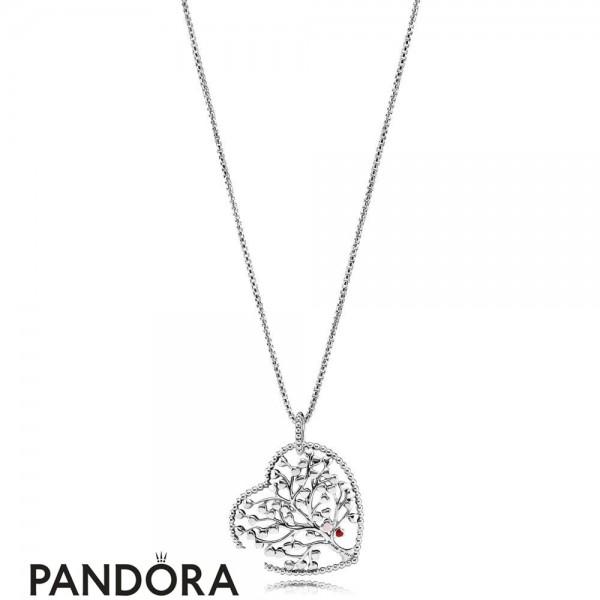 Women's Pandora Tree Of Love Necklaces Mixed Enamel Jewelry